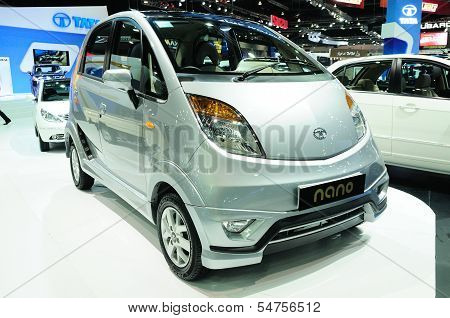 Bkk - Nov 28: Tata Nano On Display At Thailand International Motor Expo 2013 On Nov 28, 2013 In Bang