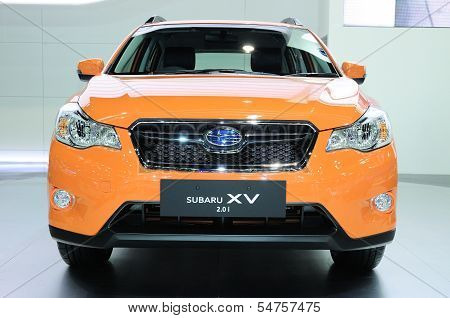 Bkk - Nov 28: Subaru Xv 2.0I, Cross Over Vehicle, On Display At Thailand International Motor Expo 20