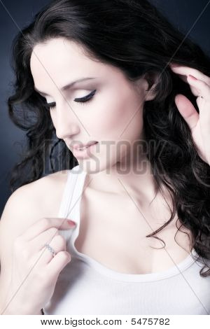 Young Woman Tender Portrait