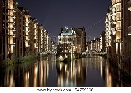 Speicherstadt Hamburg By Night
