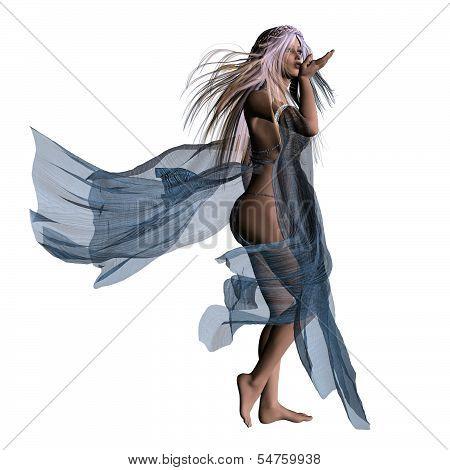 Woman In Flowing Dress