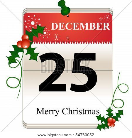 Christmas Calendar Date