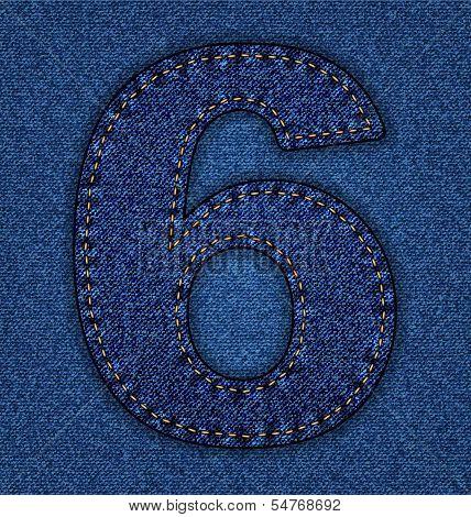 Jeans alphabet number 6