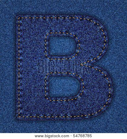Jeans alphabet letter B