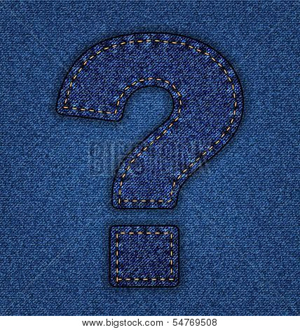 Jeans alphabet question mark