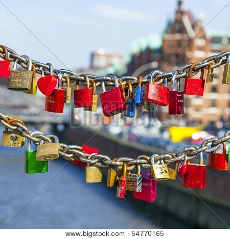 Lockers At The Bridge Symbolize Love Forever