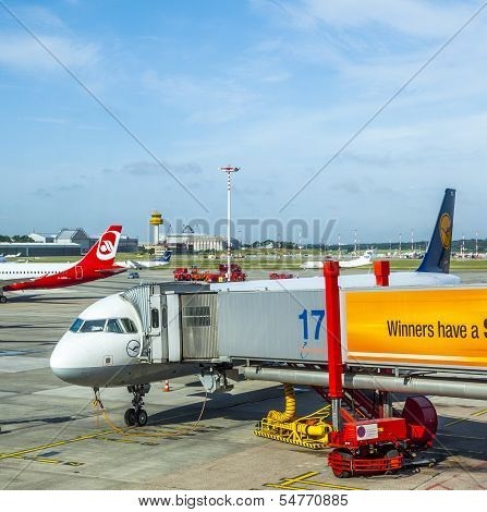 Aircraft At The Gate In Terminal 2