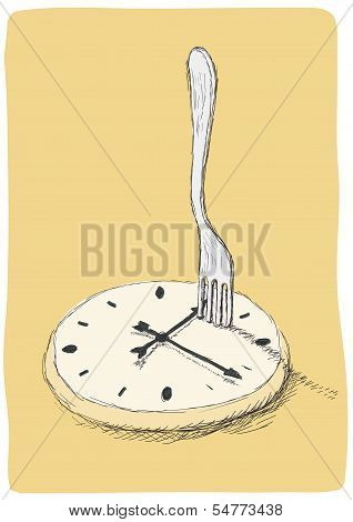 Clock And Fork