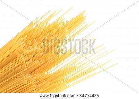 Spaghetti bias on the white background.