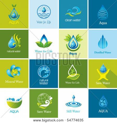 Set of vector Water icons 2.