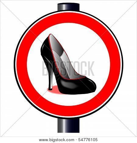 Stiletto Road Sign
