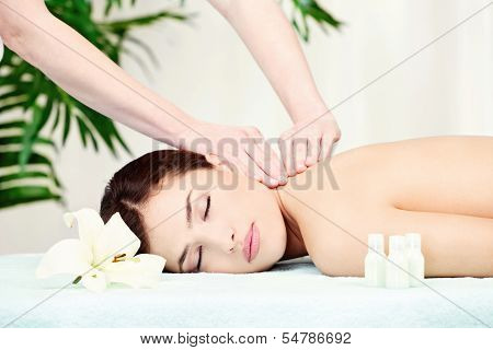 Woman On Neck Massage