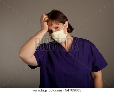 Experienced Doctor Or Nurse In Mask