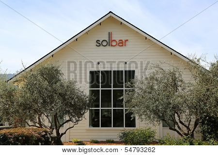 Solbar restaurant at  Solage Calistoga Resort in California