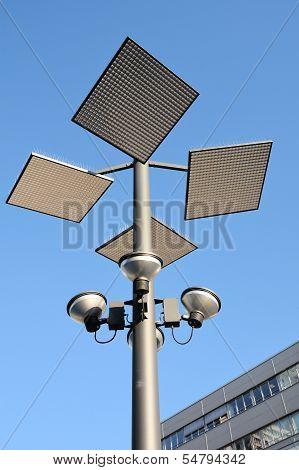 modern street lamp in the center of Hanover