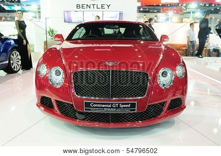 Bkk - Nov 28: Bentley Continental Gt Speed, Luxury Car,on Display At Thailand International Motor Ex