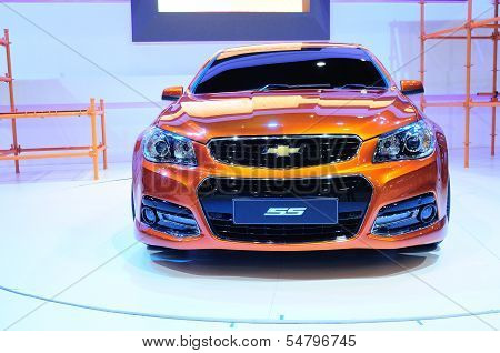 Bkk - Nov 28:the New Chevrolet Ss, Sport Sedan Car, On Display At Thailand International Motor Expo