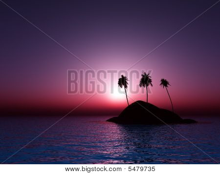 Tropical Sea Sunset