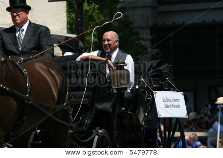 Wisconsin Govener Jim Doyle At Great Circus Parade Milwaukee Wi July 12 2009  Medium