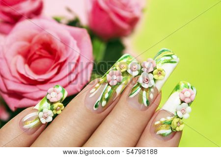 Acrylic roses .