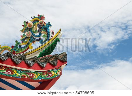Colorful On The Roof Of Joss House