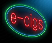 stock photo of e-cigarettes  - Illustration depicting an illuminated neon sign with an e - JPG