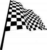 stock photo of draught-board  - Black and white checked racing flag - JPG