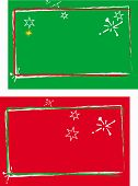 picture of christmas-present  - two in one christmas cards or present tags background red and green - JPG