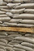 pic of sandbag  - Group of sandbags at a construction site - JPG