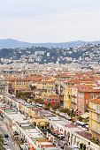 France , Cote d'Azur. Nice, October 16, 2013. View of the city from the Castle hill