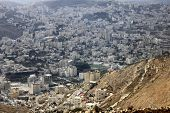 picture of samaria  - Nablus, the Biblical City of Shechem in the Samaria, betwen the Ebal Mount and Gerizim Mount, Holy Land, Israel
