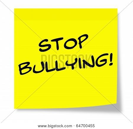 Stop Bullying Sticky Note