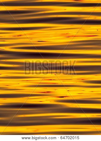 Wavelets on the surface of sunset lake