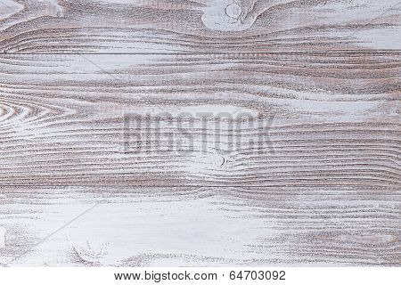 Wood Surface Painted With White Acrylic Paint