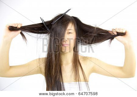 Sad Messy Asian Hair