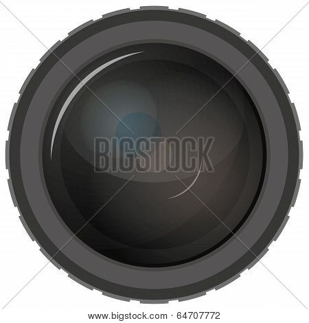 Simple camera lens illustration