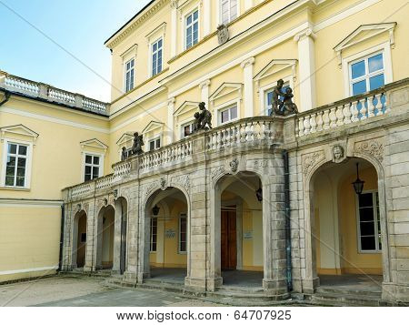 PULAWY, POLAND - MAY 01 2014: Historic Czartoryski's Palace in Pulawy, Poland now opened to the public as the Museum exhibiting National Memorabilia