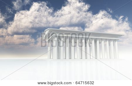 Mythical Temple in white
