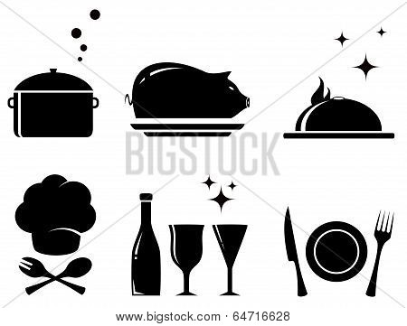 isolated Restaurant Food Objects