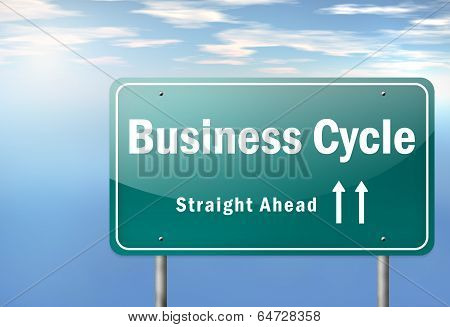 Highway Signpost Business Cycle