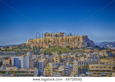 Acropolis and Athens cityscape, Greece