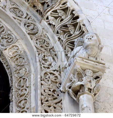 protome cathedral Bari (Apulia) ITALY