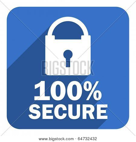100 percent secure flat icon