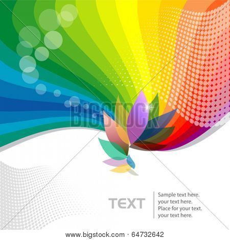 Abstract Multicolor  Flower  - Vector Background