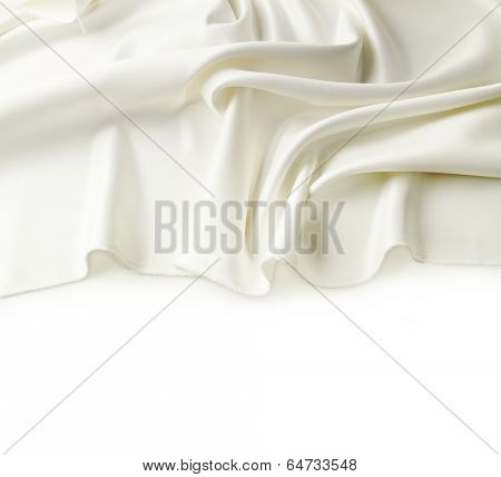Closeup of lines in silk fabric