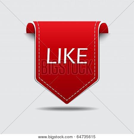 Like Us Red Label Vector Design