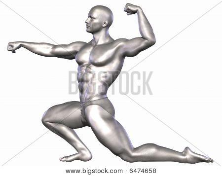 Silver Bodybuilder