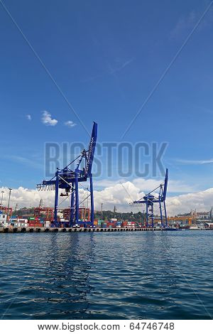 Port Of Haydarpasa And Container Terminal In Harem Istanbul