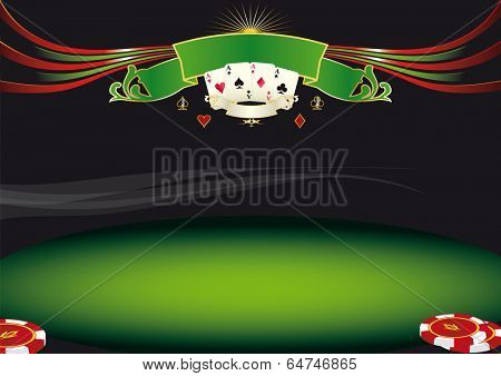 Nice horizontal  poker background. Use this background for a screen in a casino