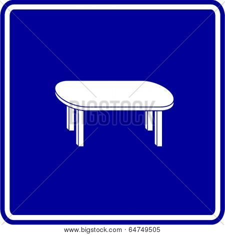 four leg table sign